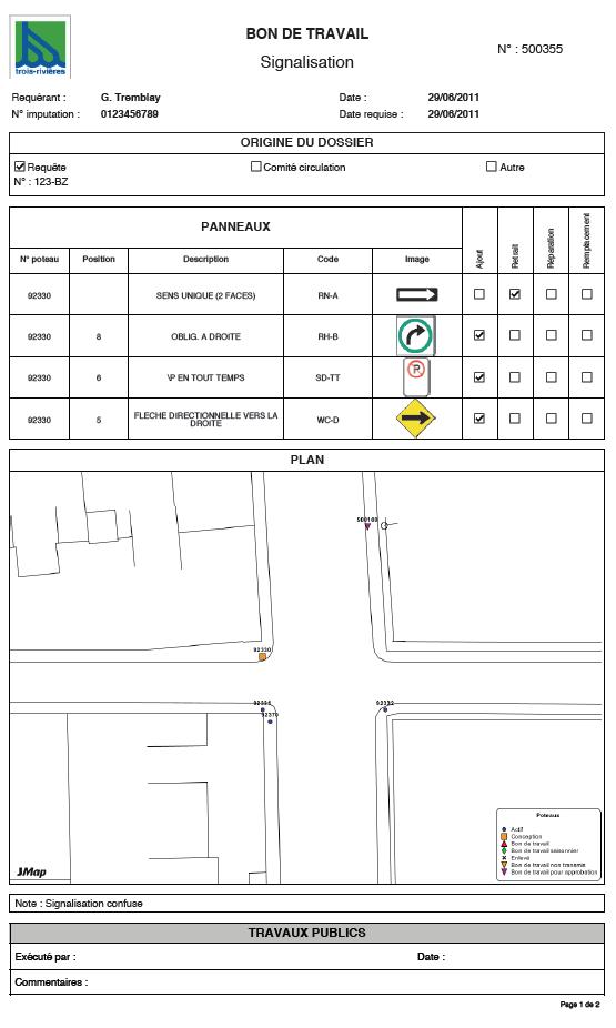 extension signal x barre d 39 outils de l 39 extension signal x cr ation d 39 un bon de travail. Black Bedroom Furniture Sets. Home Design Ideas
